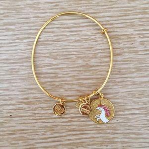 Alex and Ani Gold Unicorn Bracelet